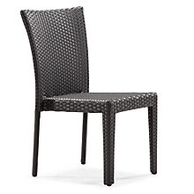 Arica Armless Outdoor Dining Chair, ZUO-701360