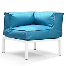 Copacabana Cushioned Outdoor Corner Chair, ZUO-70181