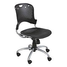 Circlulation Black Plastic Task Chair, MOO-34552