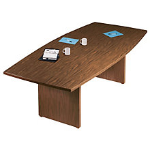 "48"" x 144"" Boat-Shaped Conference Table, BAR-PBT-634"