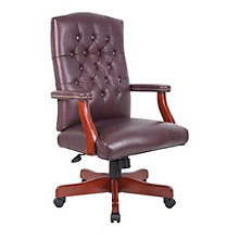 Widmore Traditional Tufted Bonded Leather Executive Chair, BOC-B915