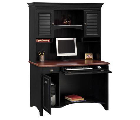 Antique Black And Hansen Cherry Desk With Hutch