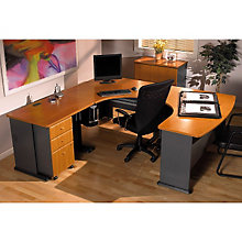 "Series A Left Bow U-Desk - 84""W x 91""D, BUS-10135"