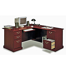 Harvest Cherry Reversible L-Desk, BUS-EX45670-03
