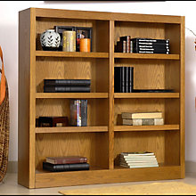 "Midas Eight Shelf Double Bookcase - 48""H, CIW-MI4848"