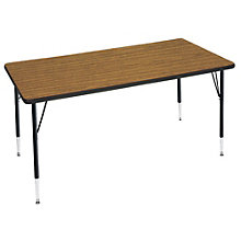 "Adjustable Height Rectangular Activity Table - 30"" x 72"", OFG-TS1039"