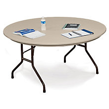 "Lightweight Plastic Folding Table - 60"" Round, COR-R60"
