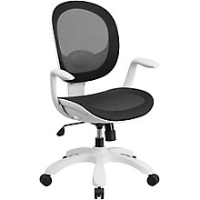 Southport White Frame Ergonomic Computer Chair in Mesh, 8803009