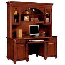 Antigua Computer Credenza with Hutch, OFG-CH1044
