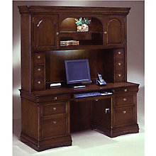 Kneehole Credenza with Hutch, OFG-CH1019