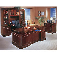 Oxmoor Merlot Cherry Four-Piece Executive Office Suite, OFG-EX0050