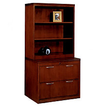 Summit Reed Lateral File with Bookcase Hutch, OFG-LF0100