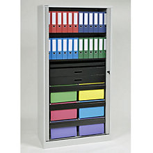 "Bisley Filing & Storage Tambour Cabinet - 78"", EMI-TAMK5"