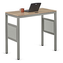 "At Work Standing Height Desk in Warm Ash - 48""W x 24""D, 8803980"