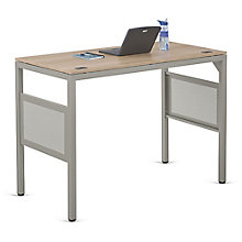 "At Work Standing Height Desk in Warm Ash - 60""W x 30""D, 8803981"