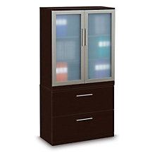 Two Drawer Lateral File with Storage Cabinet - 36