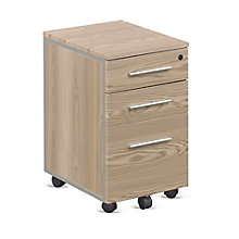 "At Work Mobile File Pedestal in Warm Ash - 26""H, 8803976"