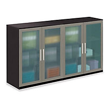At Work Glass Door Storage Credenza, OFG-LD1236