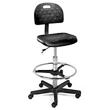 Poly Stool with Backrest, ERC-10901