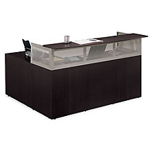 At Work Right Return Reception L-Desk with Pedestal, ERC-01229