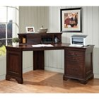 Belcourt Corner Single Pedestal Desk with Hutch, TKE-10693