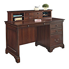 Belcourt Single Pedestal Desk with Hutch, ERE-01220