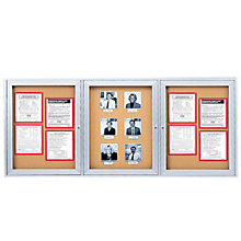 Aluminum Framed Corkboard with 3 Doors, GHE-PA33672K