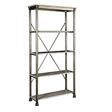 "The Orleans Four Shelf Open Storage- 76"", HOT-10823"