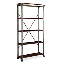 "The Orleans Four Veneer Shelf Open Storage- 76"", HOT-10825"