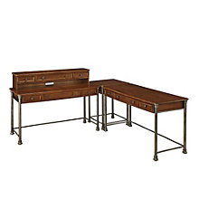 "The Orleans Corner L Desk and Hutch- 136""W, 8801344"