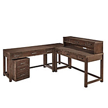 Barnside L-Desk, Hutch, Mobile File Set, 8801383