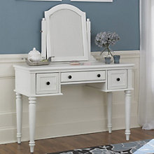 Bermuda White Vanity and Mirror, 8801378