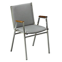Fabric Stack Chair with Arms, KFI-411F