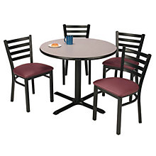 Round Table and Four Dining Chairs, OFG-TS1018