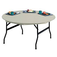 "Lightweight Plastic Folding Table - 60"" Round, KRU-VL60R"