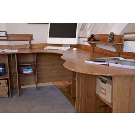 bamboo corner desk with peninsula ofg cd0033 officefurniture