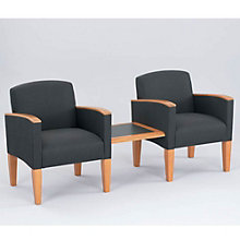 Two Guest Chairs with Center Connecting Table, OFG-GR0010