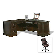 Buy the Fulton Compact L-Desk and Save Big on this Office Chair, 8801281