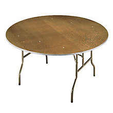 "Plywood 54"" Round Folding Table, MID-R54E"