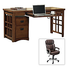 Bargain Buy- Mission Pasadena Laptop Desk and Matching Chair Set, 8801285