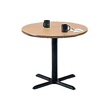 "Round Breakroom Table with Black Base - 30"" Diameter, MOD-3030-30RD"