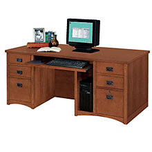 Mission Oak Executive Computer Desk, MRT-MO685M
