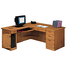 Waterfall Computer L-Desk with Left Return, OFG-LD1008