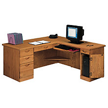 Waterfall Computer L-Desk with Right Return, OFG-LD1009