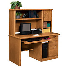Waterfall Computer Desk with Hutch, OFG-DH1004