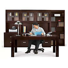 Table Desk Executive Set with Bookcase, MRN-10762