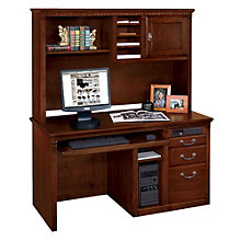 "Huntington Cherry Computer Desk with Hutch - 56""W, MRN-10748"
