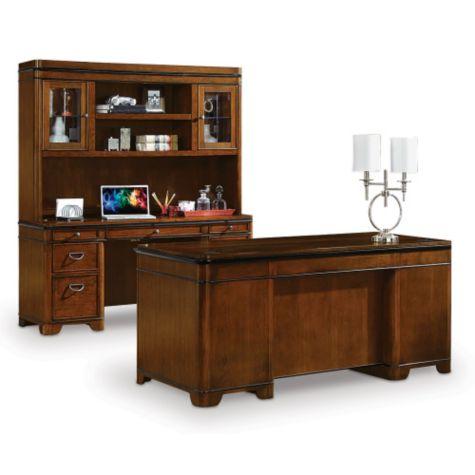 kensington desk credenza and hutch set 8801995