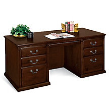 Huntington Cherry Double Pedestal Executive Desk, MRT-HCR680