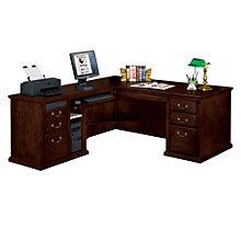 Huntington Cherry L-Desk with Left Return, OFG-MS2010